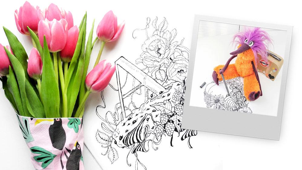 Fred bei Jilla Atelier – meditatives Zeichnen, eine neue Lieblingstasche und ein Katzenkumpel