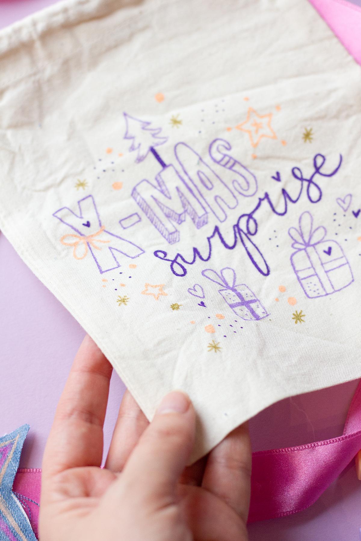 Geschenke alternativ verpacken mit Textilien - find Me
